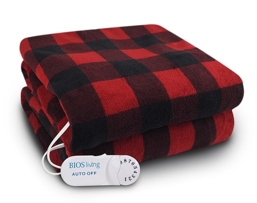 [BIOS-BUFPLAELETHR-013299] Buffalo Plaid Electric Throw